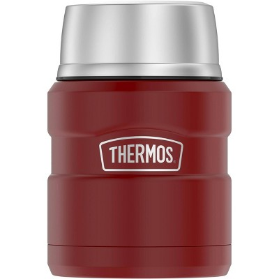 Thermos 16oz Stainless King Food Jar with Spoon - Rustic Red