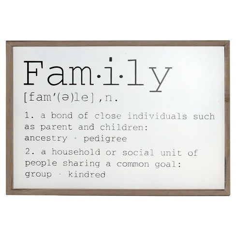 "Family Wall Decor Sign (24""x16"") - VIP Home & Garden - image 1 of 1"