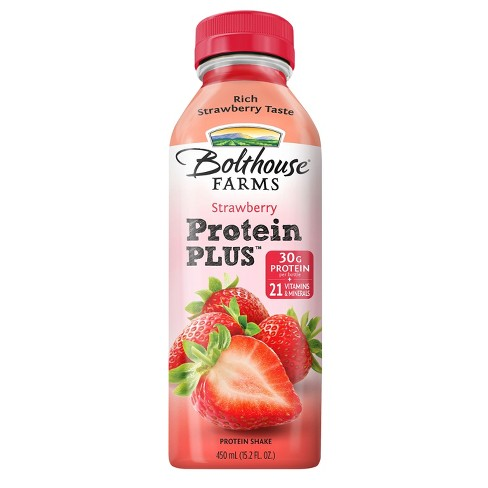 Bolthouse Farms Strawberry Protein Plus Fruit Juice Smoothie 15.2 oz - image 1 of 1