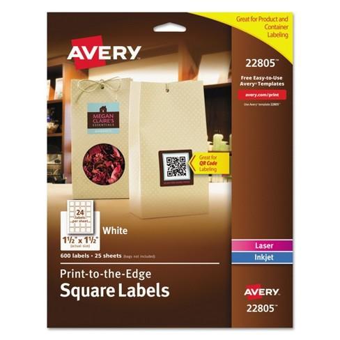 avery print to the edge easy peel labels with trueblock 1 1 2 x 1