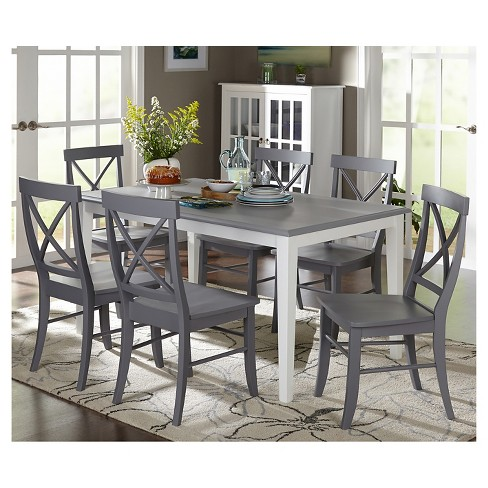 Helena Dining Set White Gray 7 Piece Tms Target