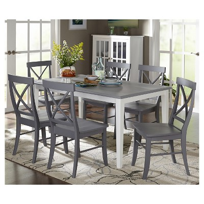 Charmant Helena Dining Set White/Gray 7 Piece   TMS : Target