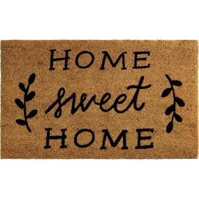 "Nourison Casa Bella NC362 Home Sweet Home Door Mat - Black 1'6""X2'6"""