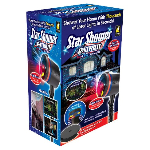 As Seen on TV® Star Shower Patriot Laser Light Projector – Red & Blue or All Blue - image 1 of 1