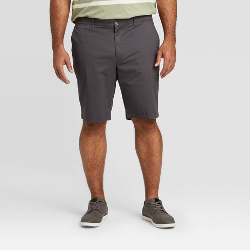 """Men's Big & Tall 10.5"""" Flat Front Chino Shorts - Goodfellow & Co™ Gray - image 1 of 3"""