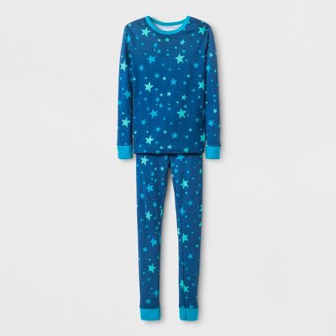 ba1358492264 Kids  Stars Graphic Pajama Set - Cat   Jack™ Blue   Target