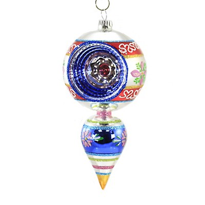 "Shiny Brite 7.0"" Cc One Ball Drop W/ Reflector Ornament Christmas Confetti  -  Tree Ornaments"