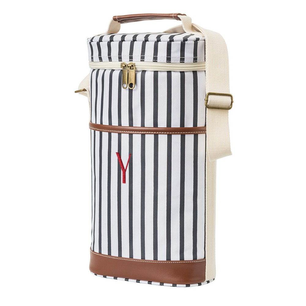 Cathy's Concepts Striped Wine Cooler - Y, Blue Brown White