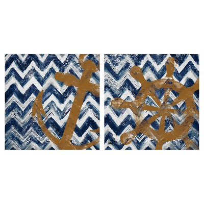 Thirstystone Nautical Chevrons 4 Piece Occasions Coaster Set