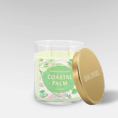 15.1oz Lidded Glass Jar 2-Wick Candle Coastal Palm - Opalhouse™