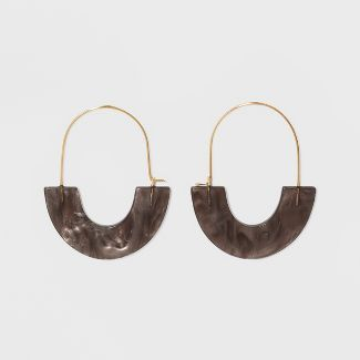 SUGARFIX by BaubleBar Glossy Resin Hoop Earrings - Tortoise