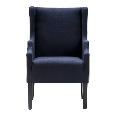 Barton Two-Tone Wingback Chair - Finch