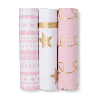 Muslin Swaddle Blankets 3pk - Cloud Island™ - Pink