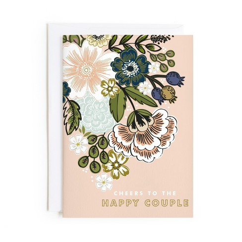 Minted Flower Bouquet Card - image 1 of 1