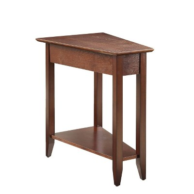 American Heritage Wedge End Table Espresso - Breighton Home