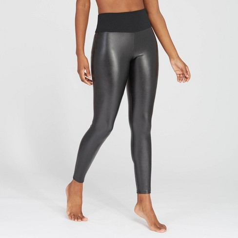ASSETS by SPANX Women's All Over Faux Leather Leggings - image 1 of 3