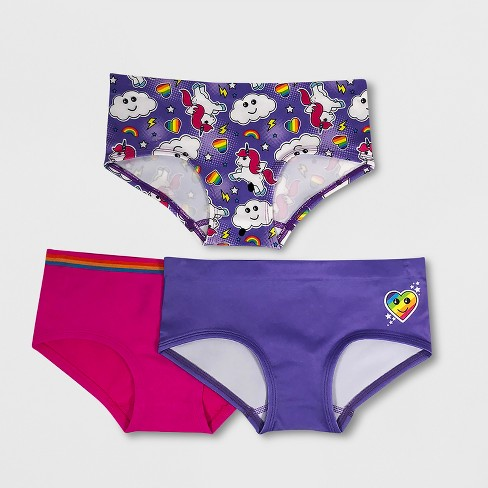 Girls' Whimsical 3pk Seamless Hipster Briefs - image 1 of 1