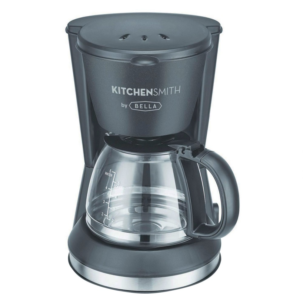 Image of KitchenSmith by Bella 5 Cup Switch Coffee Maker, Black