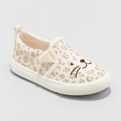 Toddler Girls' Norene Slip-On Apparel Sneakers - Cat & Jack™ Tan