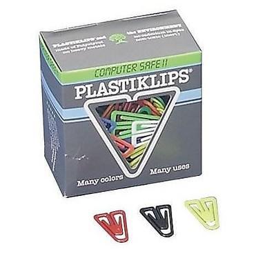 Baumgarten's Plastiklips Paper Clips Large Assorted Colors 364051