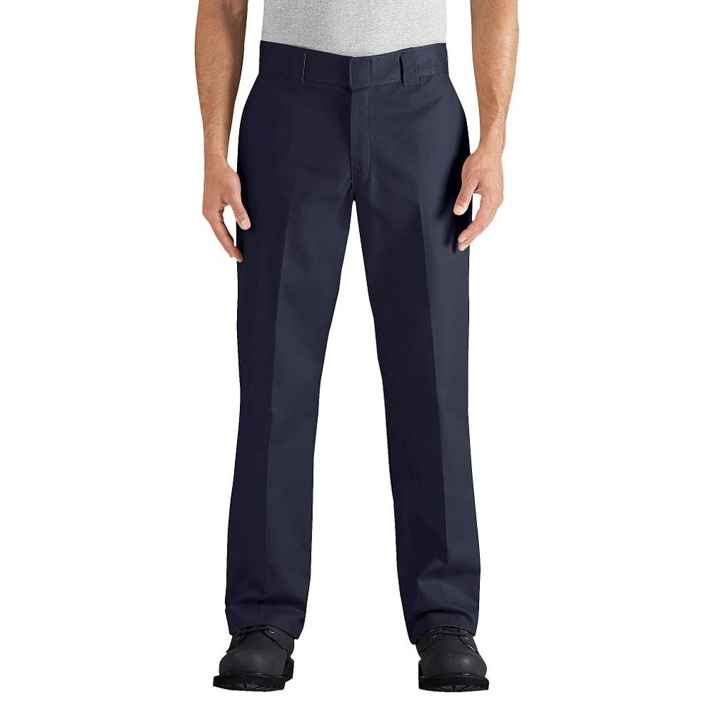 Dickies Men's Regular Straight Fit Flex Twill Pants- Dark Navy 40x32