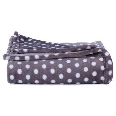 Throw Blankets Brown With Polka Dot (50 X60 )- Better Living
