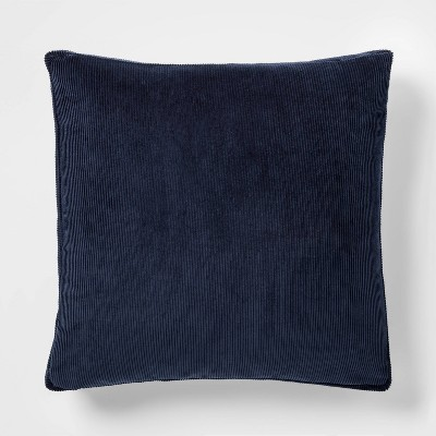Corduroy Pillow with Gusset Square Blue - Project 62™
