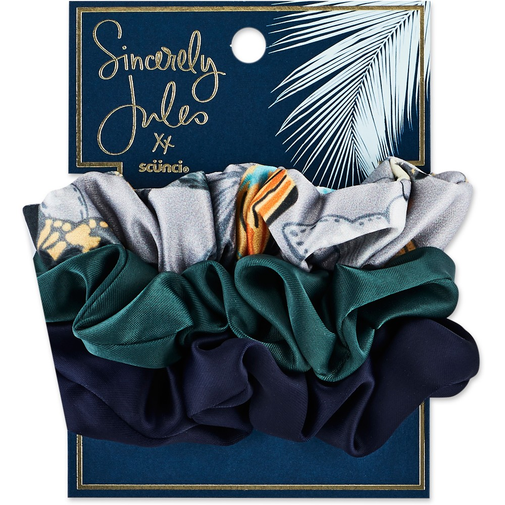 Sincerely Jules by Scünci Satin & Printed Scrunchies - 3pk, Kids Unisex, Multi-Colored