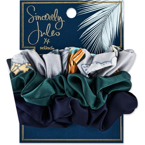 Sincerely Jules by Scnci Satin & Printed Scrunchies - 3pk - image 1 of 3