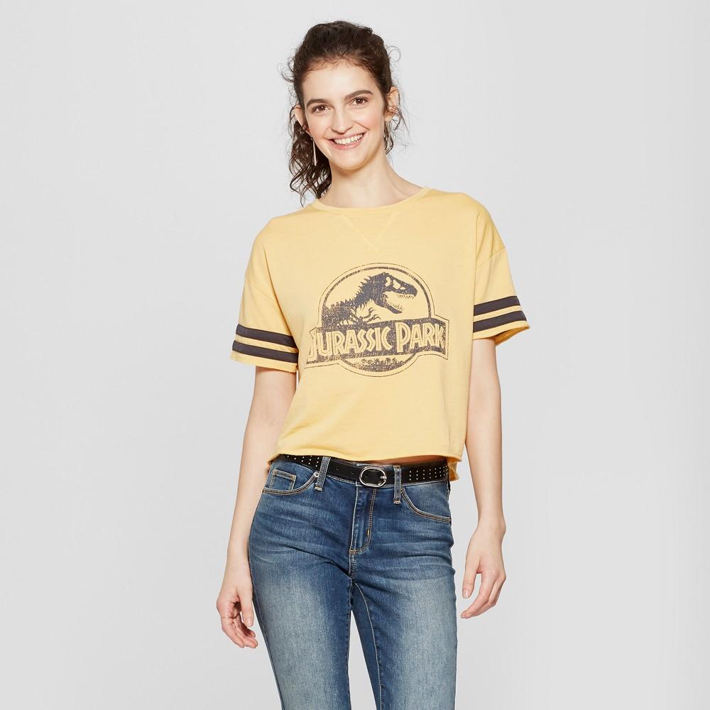 Women's Jurassic Park Short Sleeve Logo Graphic T-Shirt (Juniors') Mustard M, Yellow