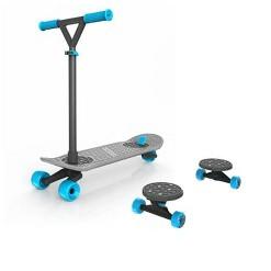 MorfBoard Scooter & Skateboard Combo Set - Silver Cyan
