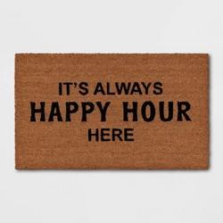 """1'6""""x2'6"""" It's Always Happy Hour Here Doormat Black - Threshold™"""