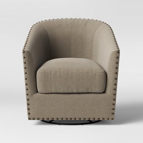 Groton Swivel Barrel Arm Chair Cream Threshold Target