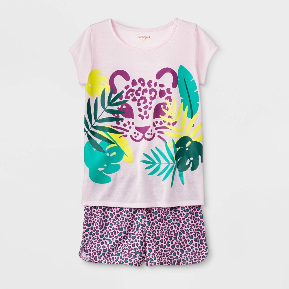 Girls' Pajama Set - Cat & Jack Modern Pink L