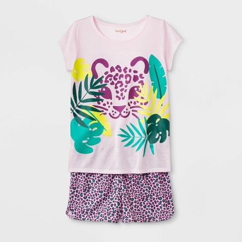 Girls' Pajama Set - Cat & Jack™ Modern Pink - image 1 of 1