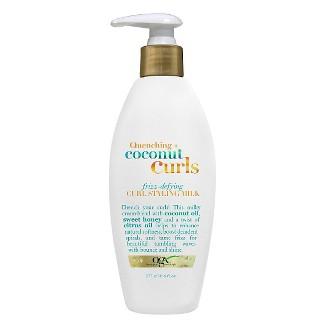 OGX Quenching + Coconut Curls Frizz Defying Curl Styling Milk - 6 fl oz