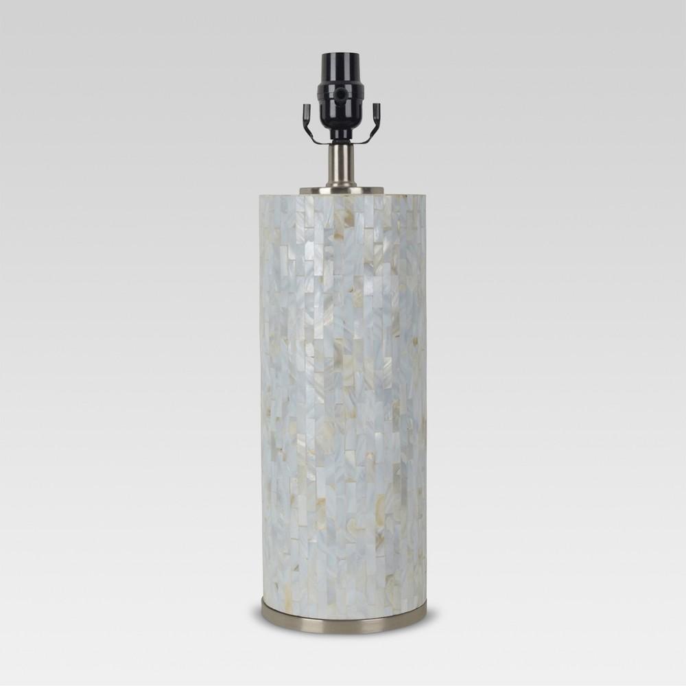 Capiz Subway Tile Large Lamp Base Shell Lamp Only - Threshold, Beige