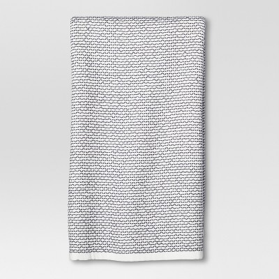 Geometric Weave Kitchen Towel Navy - Threshold™