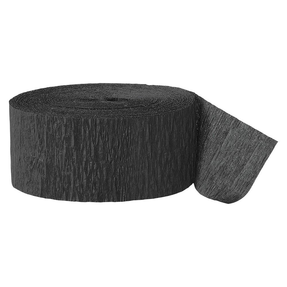 Black Crepe Streamer - Spritz