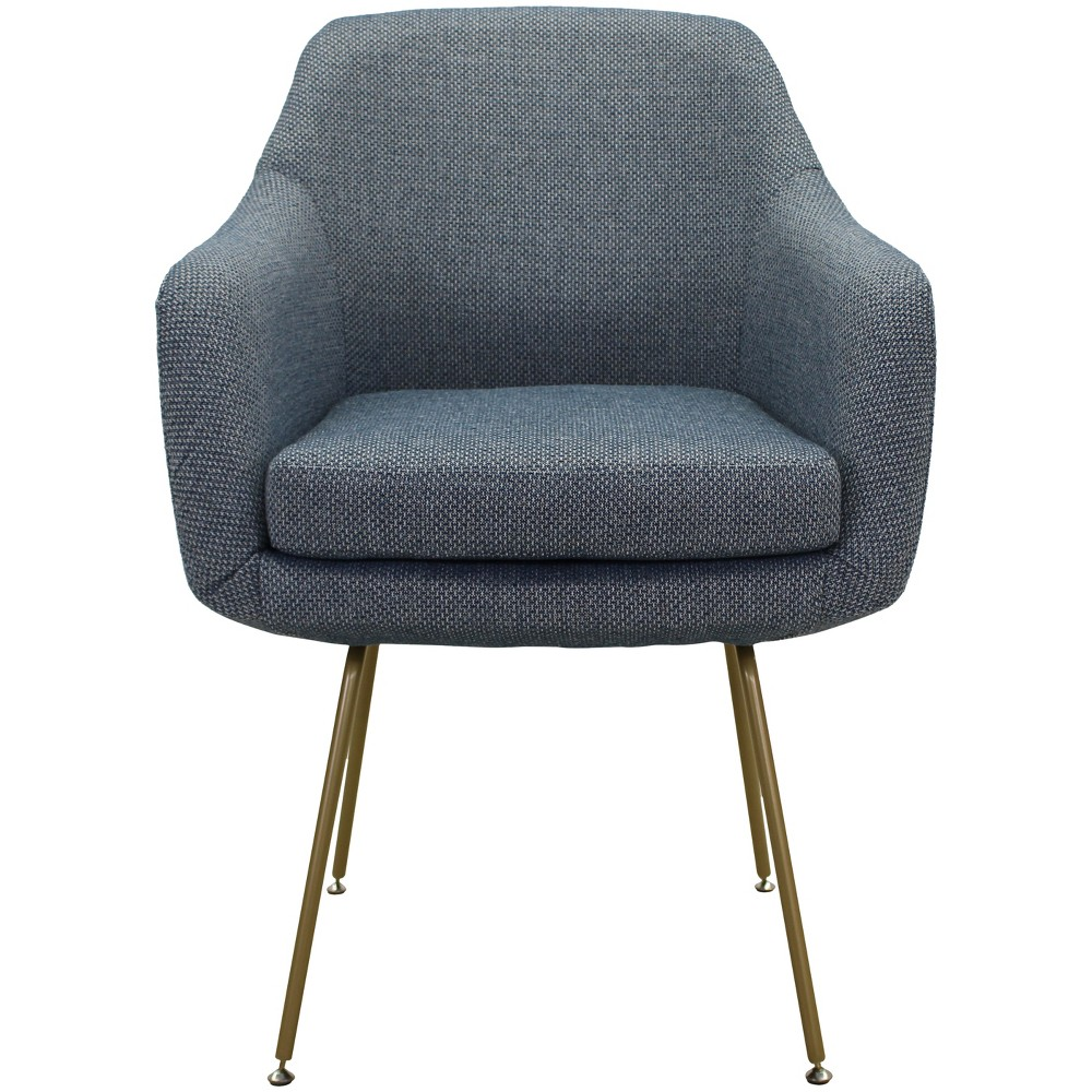 Markham Stain Resistant Dining Chair Light Blue - Fox Hill Trading