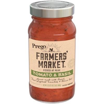 Prego Farmers' Market Tomato & Basil Marinara Pasta Sauce - 23.5oz