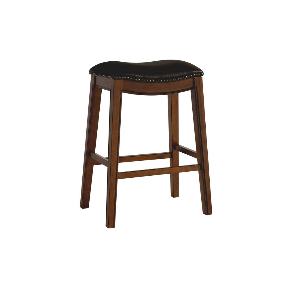 Image of 1pc Bowen Backless Bar Stool Brown - Picket House Furnishings