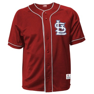 MLB St. Louis Cardinals Men's Button-Down Jersey