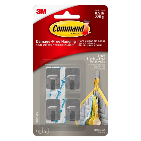 0c8c000b9c7a Wall Hook Stainless Steel Command : Target