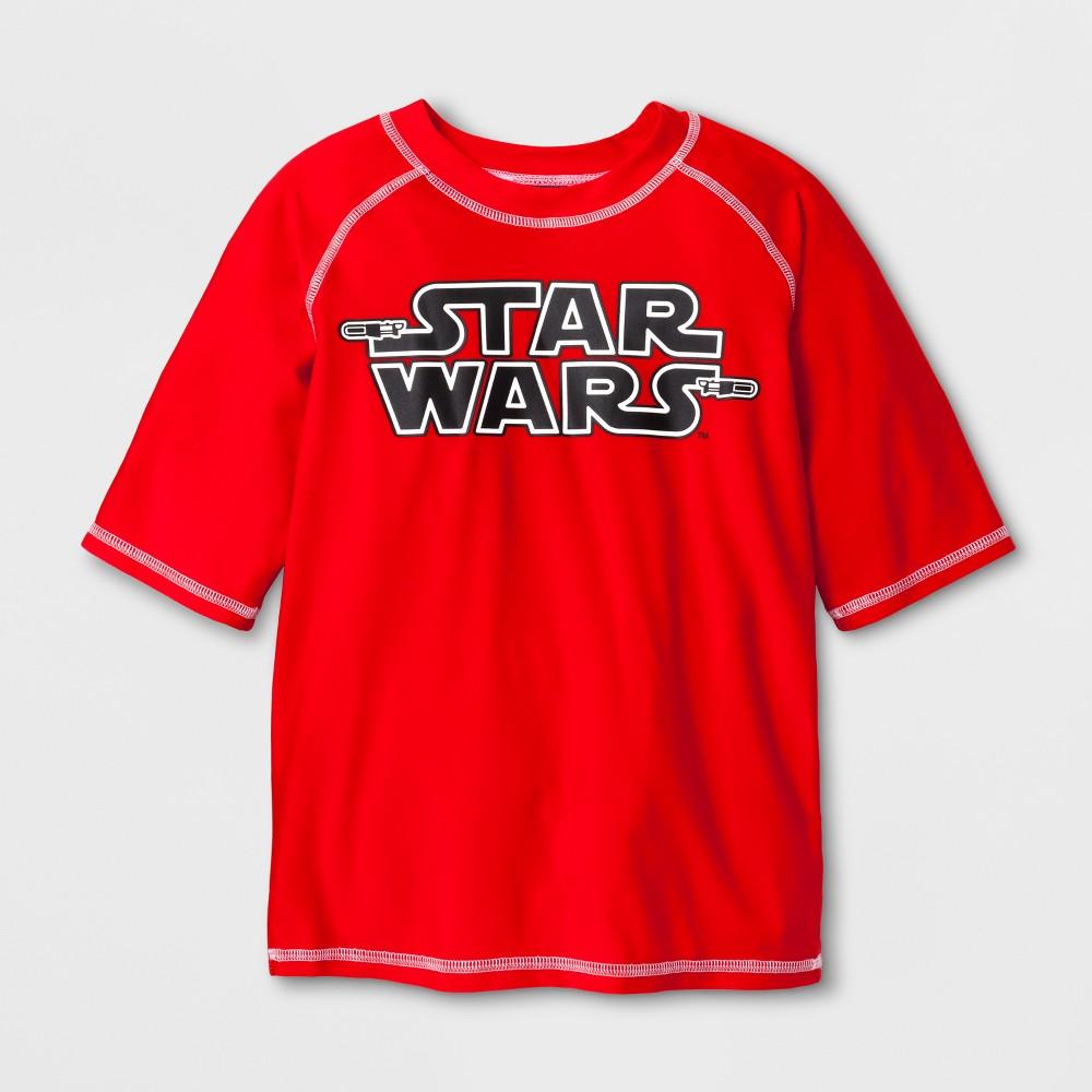 Boys' Star Wars Rash Guard - Red M