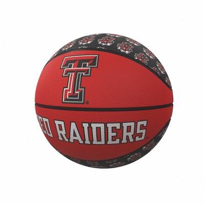NCAA Texas Tech Red Raiders Repeating Logo Mini-Size Rubber Basketball