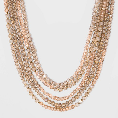 Glass Beaded Necklace - A New Day™ Gold - image 1 of 3