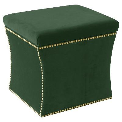Nail Button Storage Ottoman - Skyline Furniture