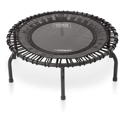JumpSport 220 In Home Cardio Fitness Rebounder - Mini Trampoline with Premium Bungees and Workout DVD - Safe, Sturdy and Gentle on the Body