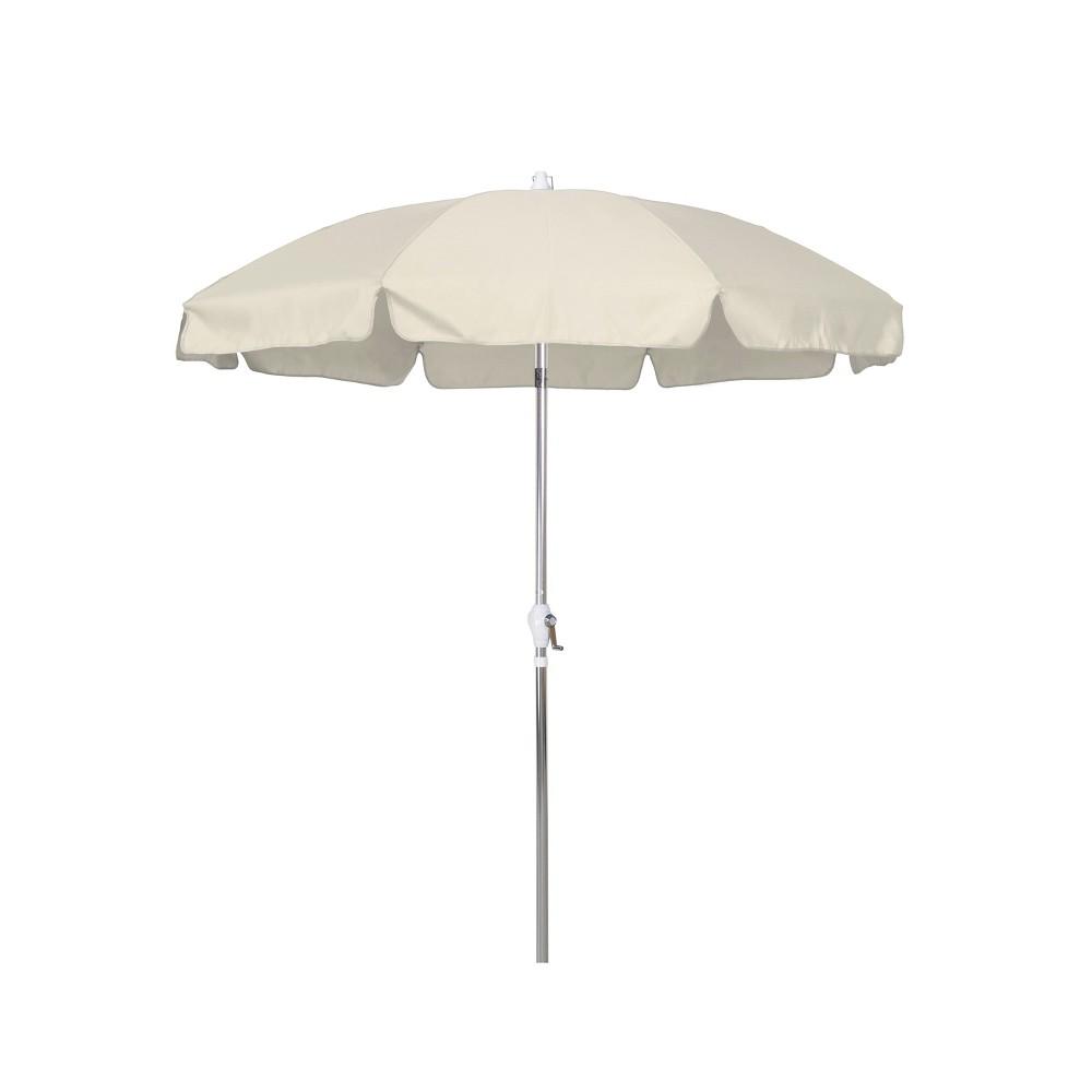 7.5' Aluminum Push Tilt Patio Umbrella - Antique Beige